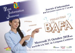 Journée d'information de formation au BAFA >> Mercredi 31 Octobre 2018