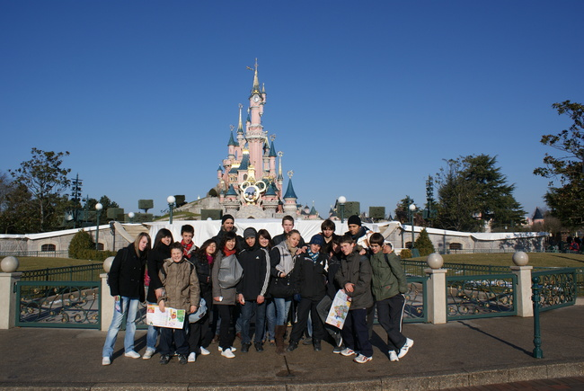 Le groupe à Disneyland Paris