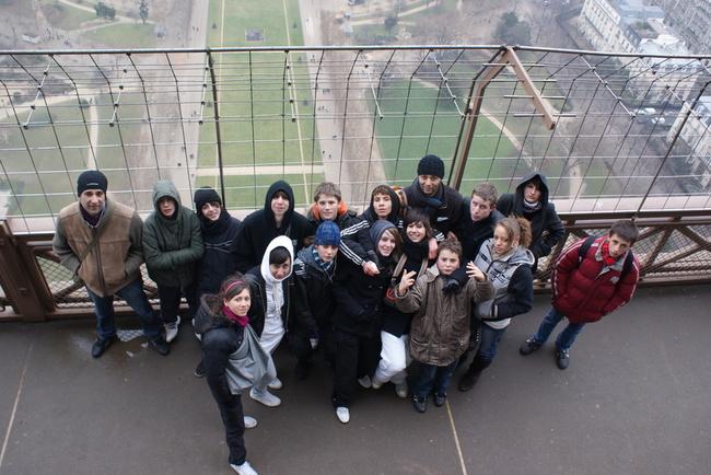 Vue du deuxième étage de la Tour Eiffel