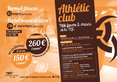 PÔLE FORME & MUSCULATION de la MJC à l'Athlétic Club
