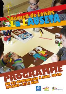 Accueil de Loisirs La Lauseta >> programme vacances d'octobre 2018