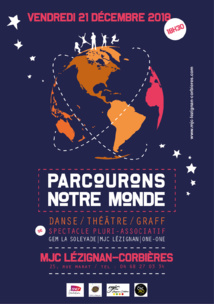 """Vendredi 21 Décembre >> Spectacle inter-associatif """"Parcourons notre monde"""""""
