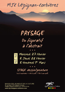 Mercredi 27, jeudi 28 Février et Vendredi 1er Mars >> Dessin/peinture PAYSAGE Du Figuratif à l'abstrait