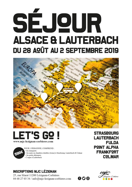 Séjour Alsace & Lauterbach >> du 28 Août au 2 Septembre 2019
