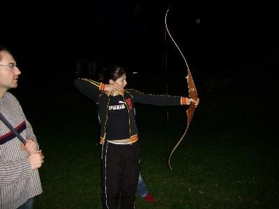 Estelle remporte le concours de Tir à l'Arc