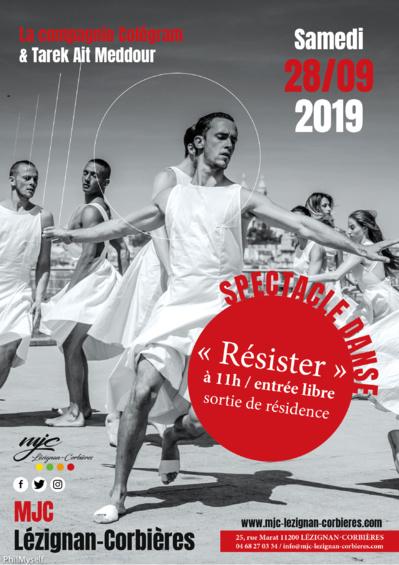 Samedi 28 septembre >> SPECTACLE DANSE- SORTIE DE RESIDENCE « RÉSISTER »
