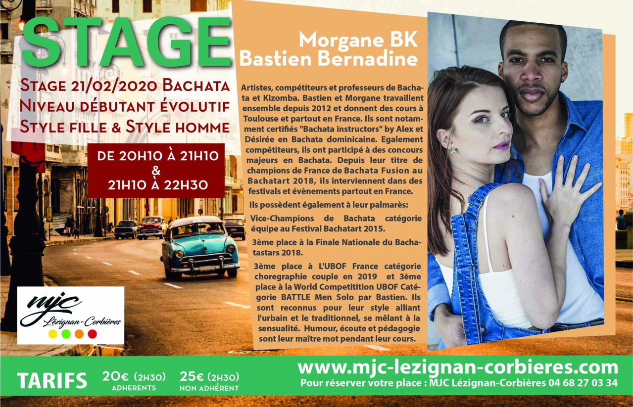 21/02 STAGE DANSE - BACHATA DOMINICAINE