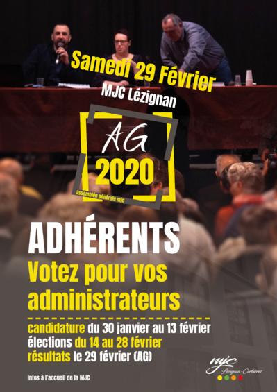 AG 2020 >> Election des administrateurs