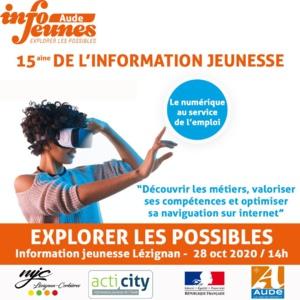 """Mercredi 28 octobre, atelier """"le numérique au service de l'emploi"""" au Point Information Jeunesse"""