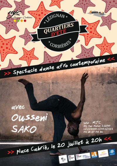 Danse afro contemporaine Place Cabrié, le 20/07