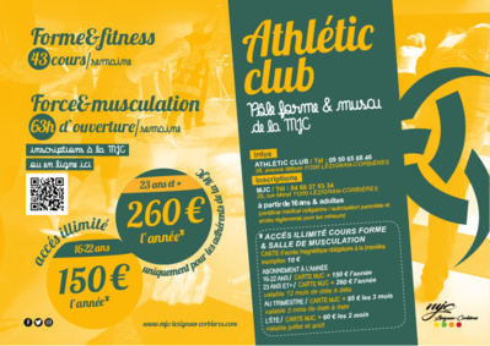 Fitness & musculation à l'Athlétic Club >> saison 2021/2022