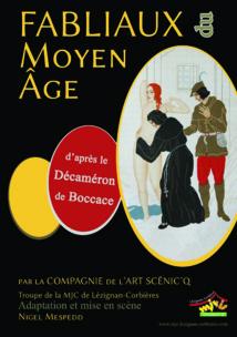 """28 Mars 2014 >> Spectacle """"Les Fabliaux"""" par la Compagnie de l'Art Scéniq'"""