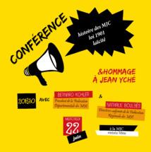 Le 22 Juin >> conférence des 70 ans de la MJC & hommage à Jean Yché
