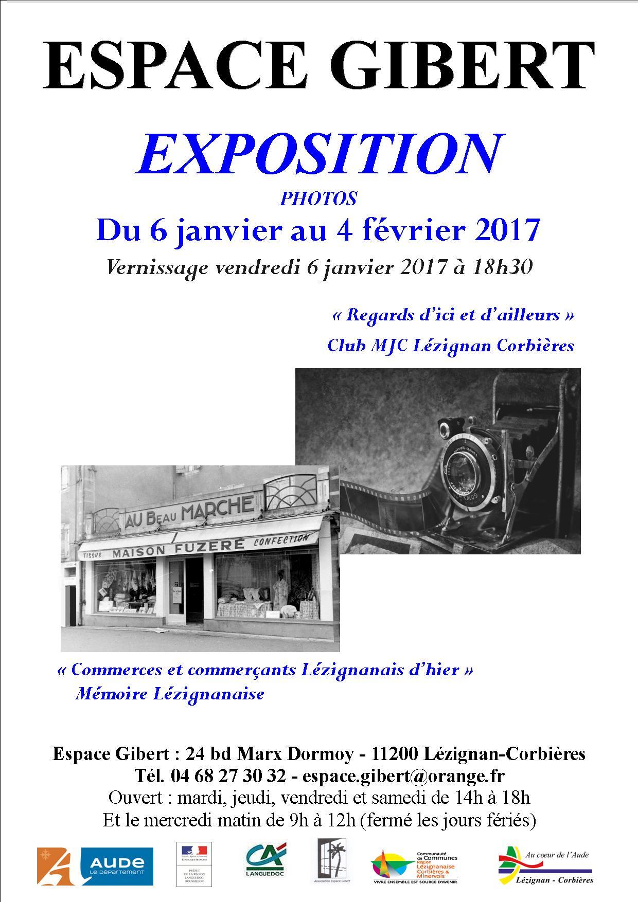 Le club photo de la MJC et la Mémoire Lézignanaise exposent à la Maison Gibert