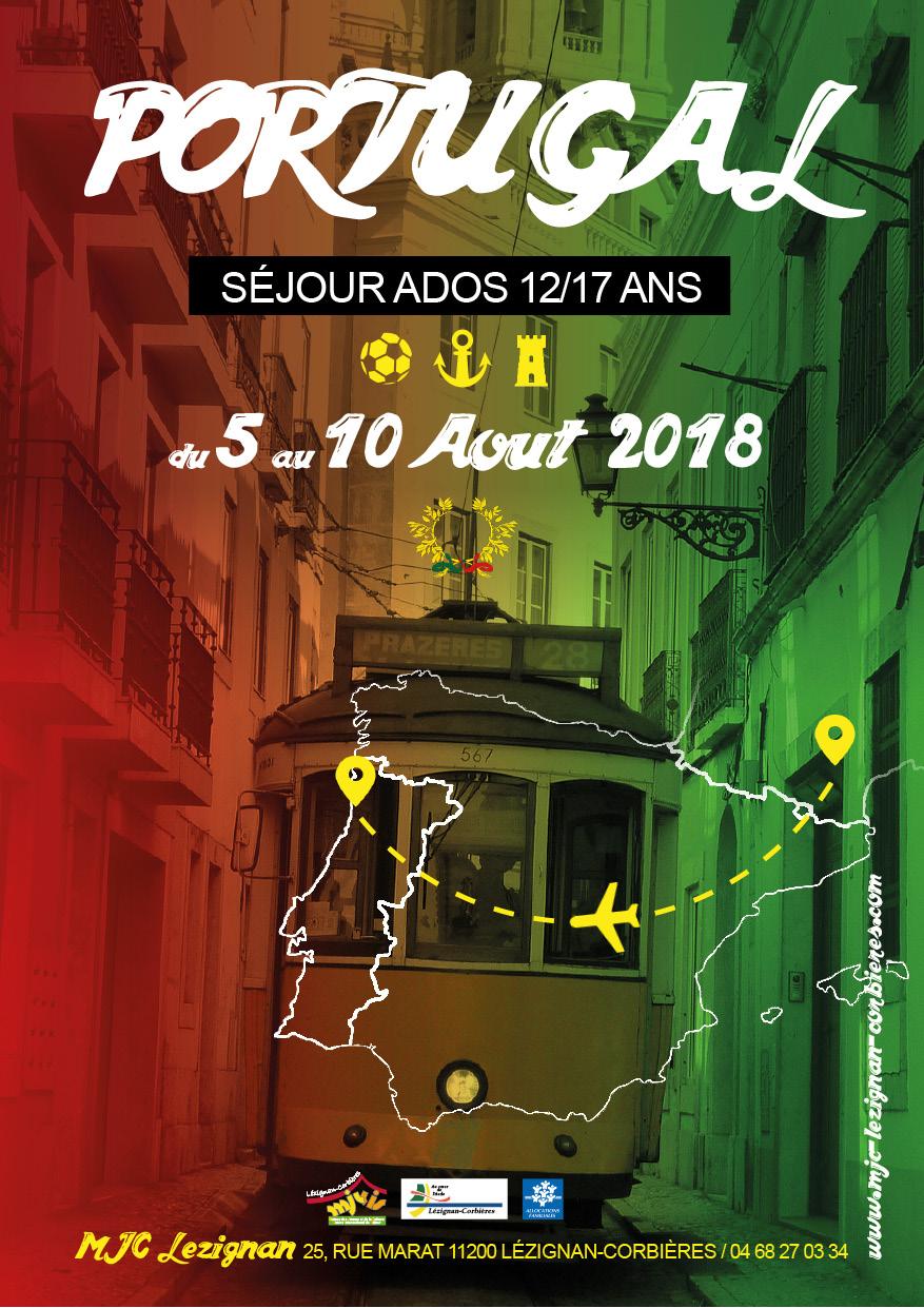 Du 5 au 10 Août >> Séjour ados au Portugal