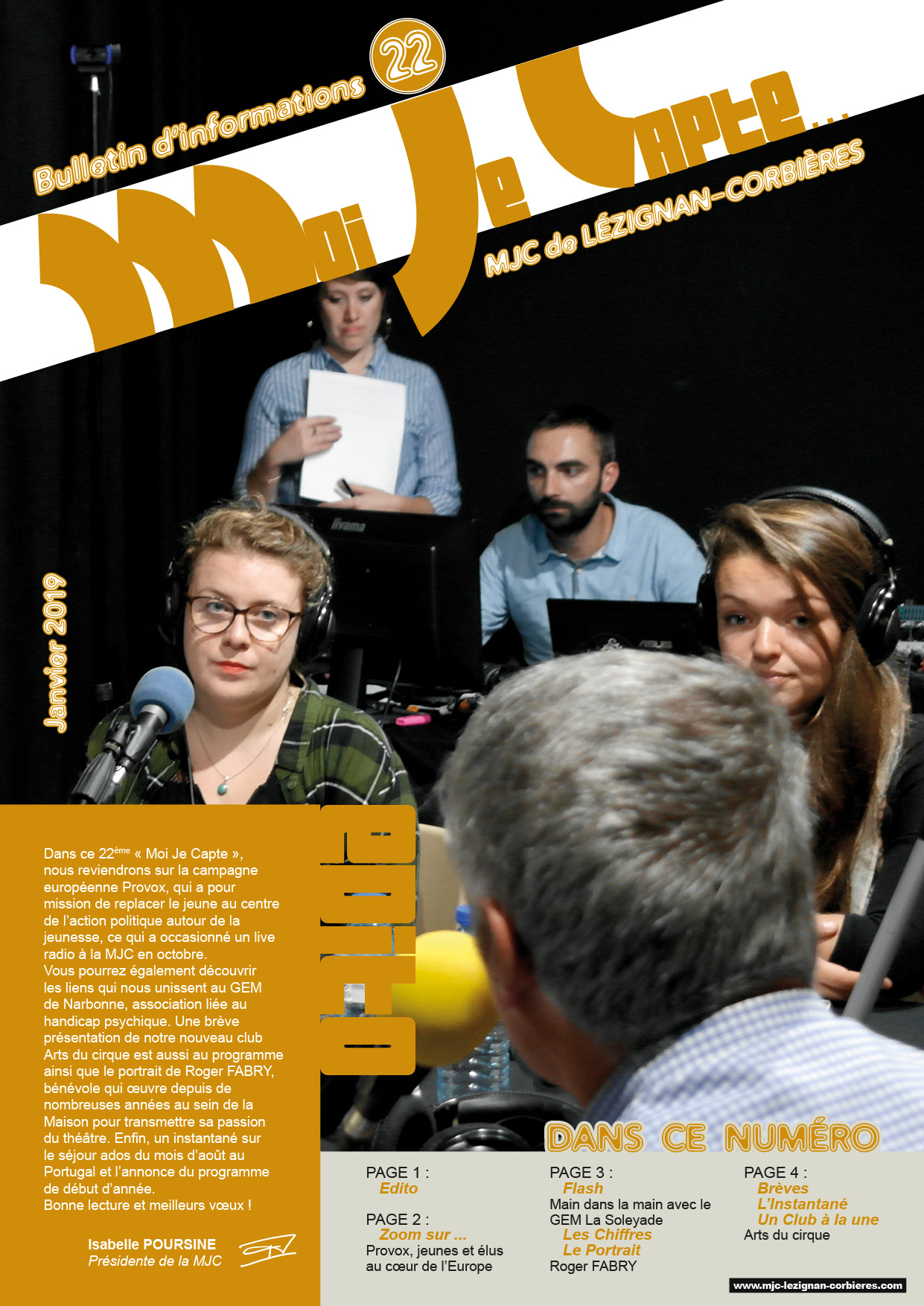 """Moi Je Capte"" le journal d'information de la MJC - suite"