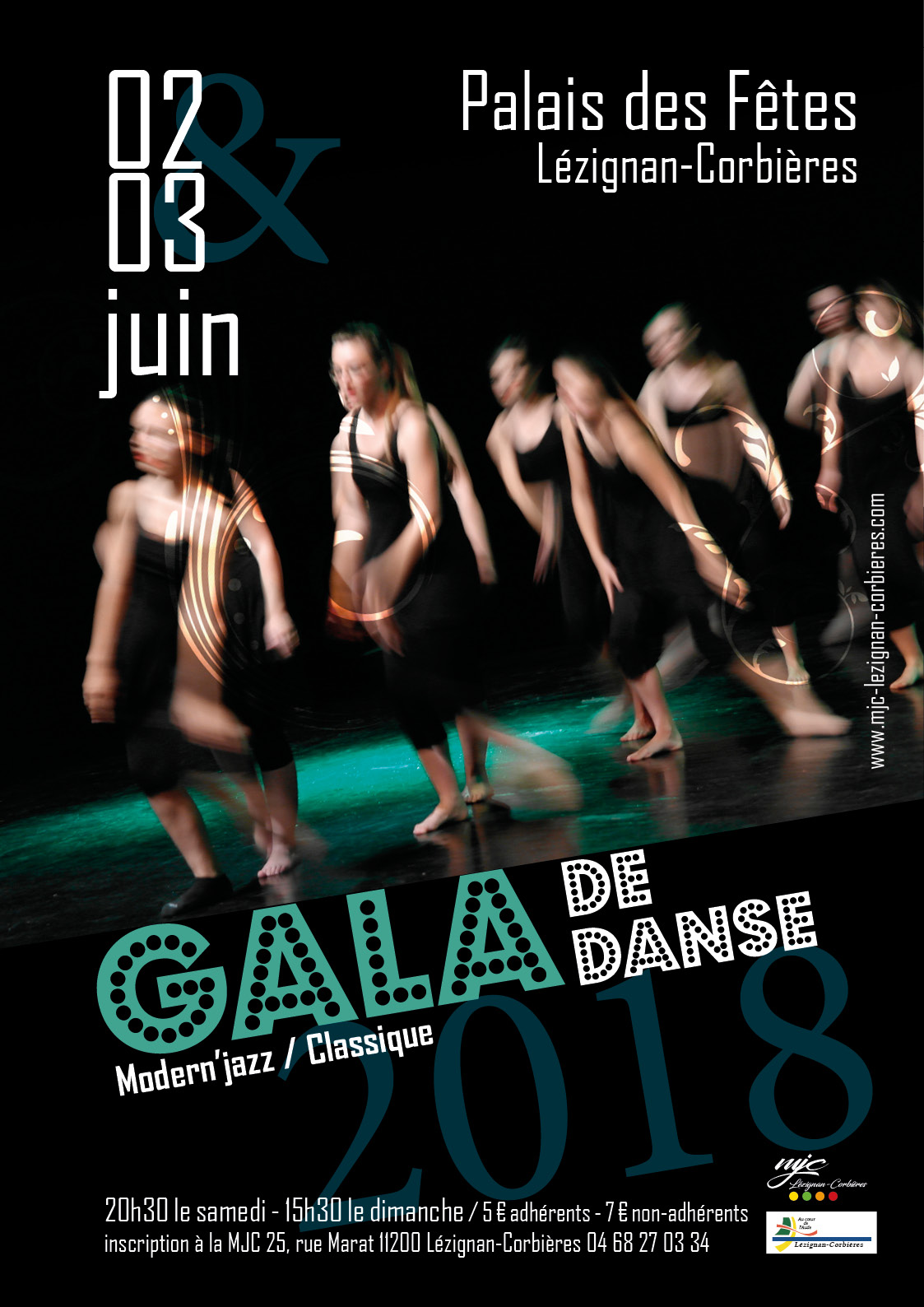 SAMEDI 2 & DIMANCHE 3 JUIN >> Gala de danse