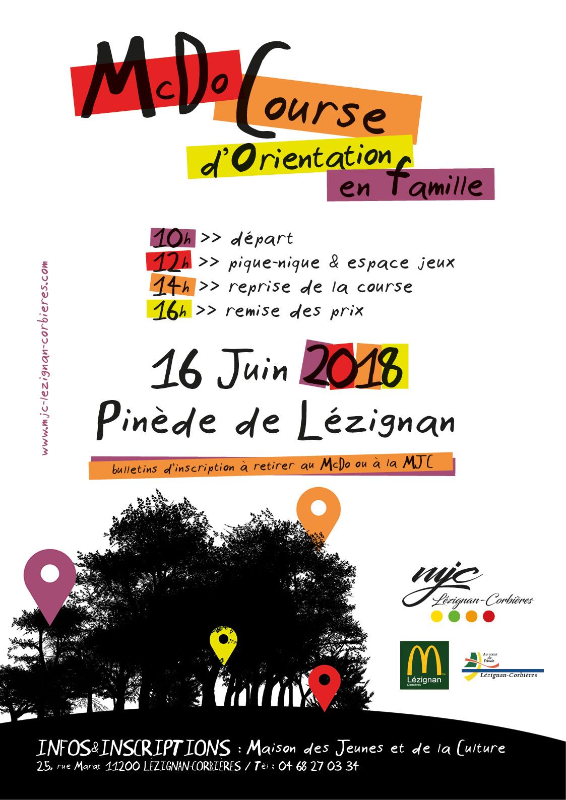 Mac Course d'Orientation avec l'ALSH La Lauseta >> le 16 Juin Pinède de Lézignan