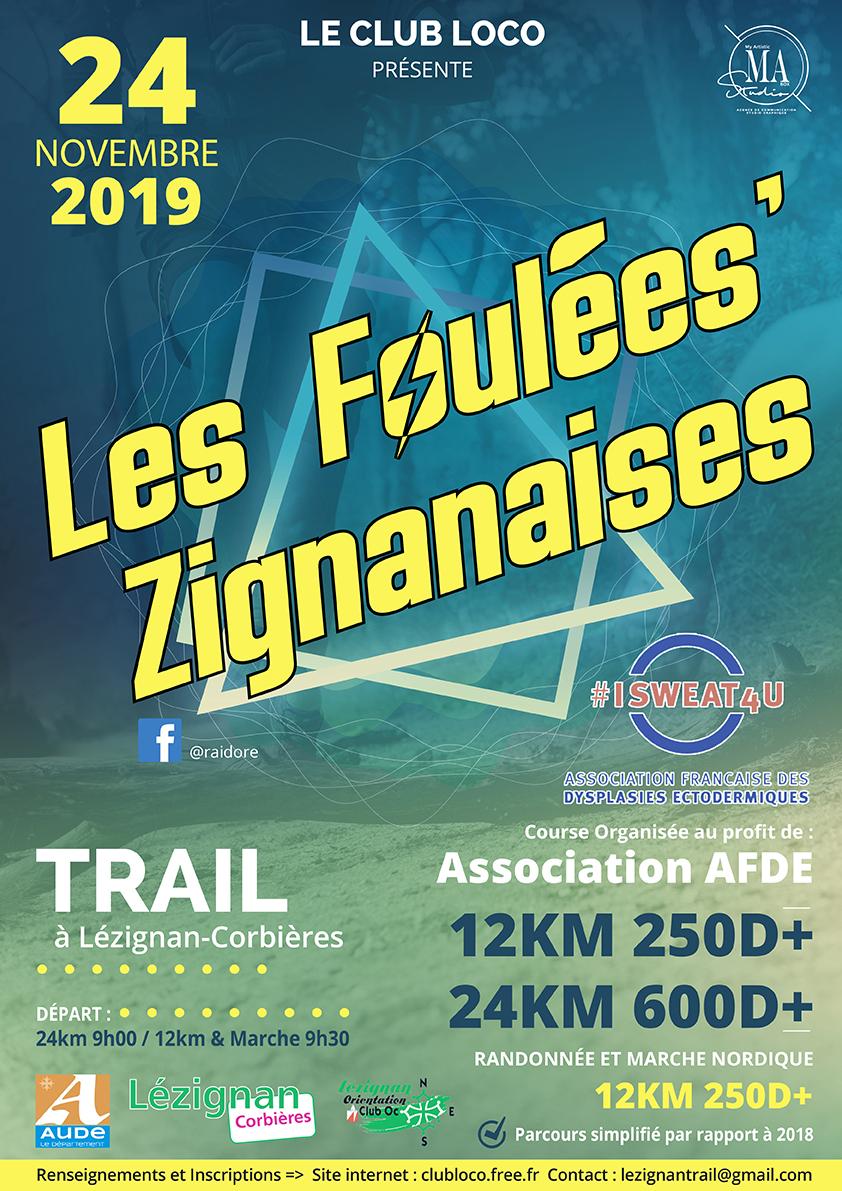 Dimanche 24 Novembre >> Les Foulées'Zignanaises Trail rando & marche nordique