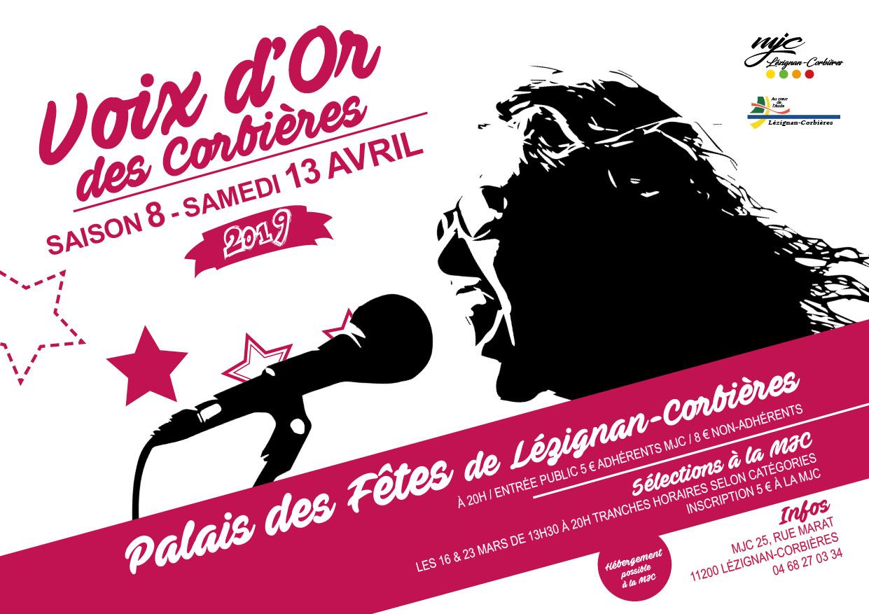 Voix d'Or des Corbières 2019 >> finale le 13 avril