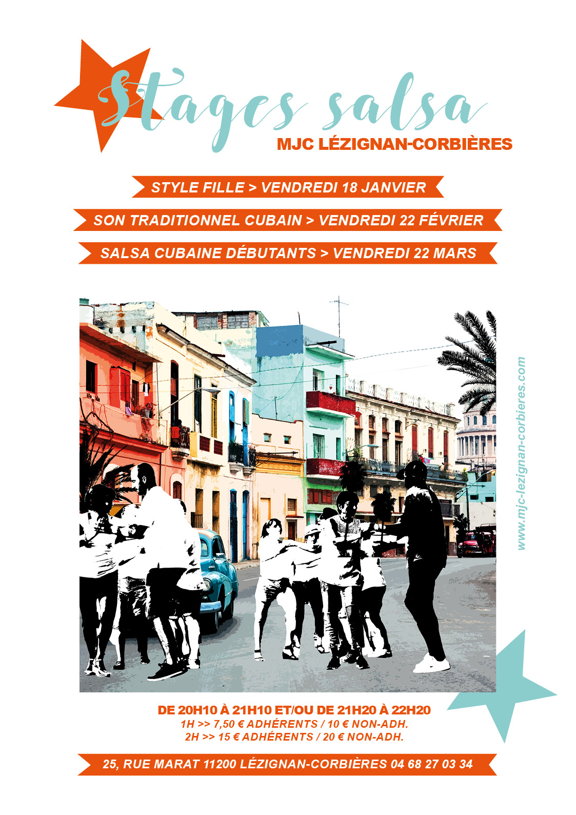 VENDREDI 22 FEVRIER >> stage salsa son traditionnel cubain