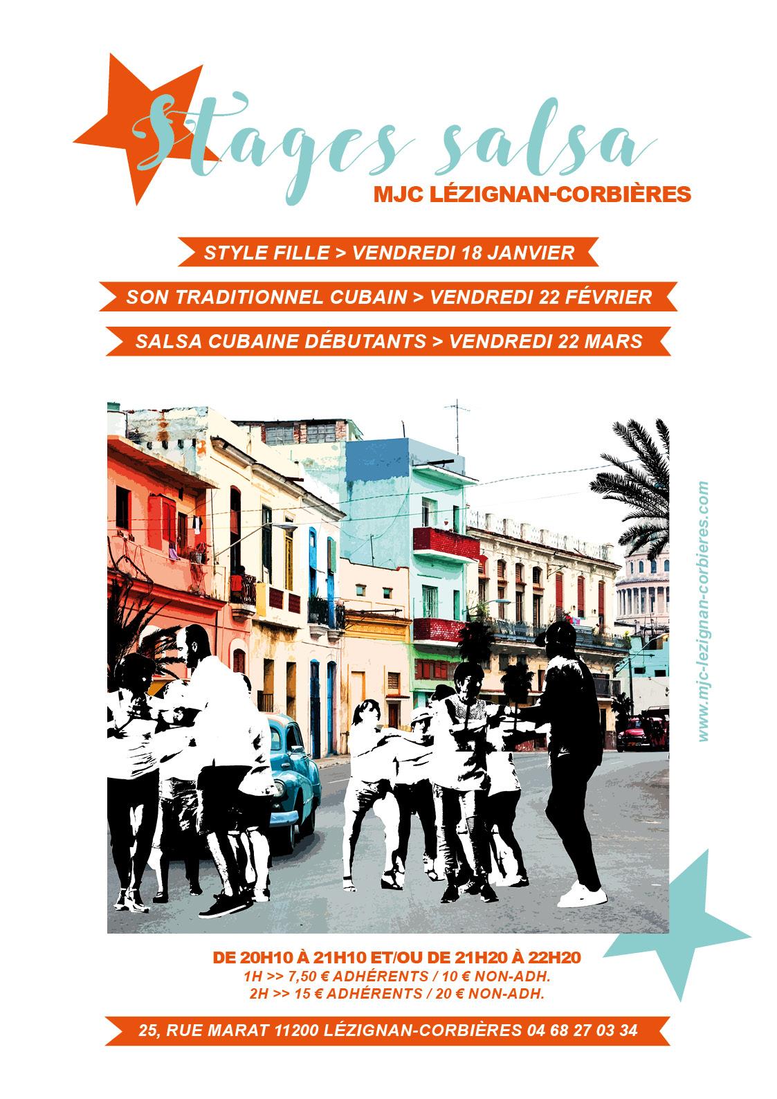VENDREDI 22 MARS >> stage salsa cubaine débutants
