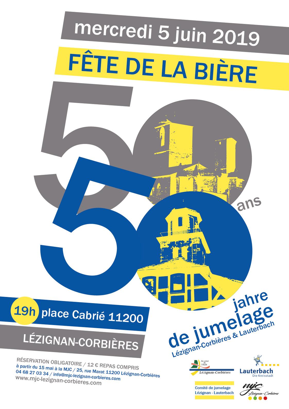 Mercredi 5 Juin >> Fête de la Bière pour les 50 ans de jumelage avec Lauterbach