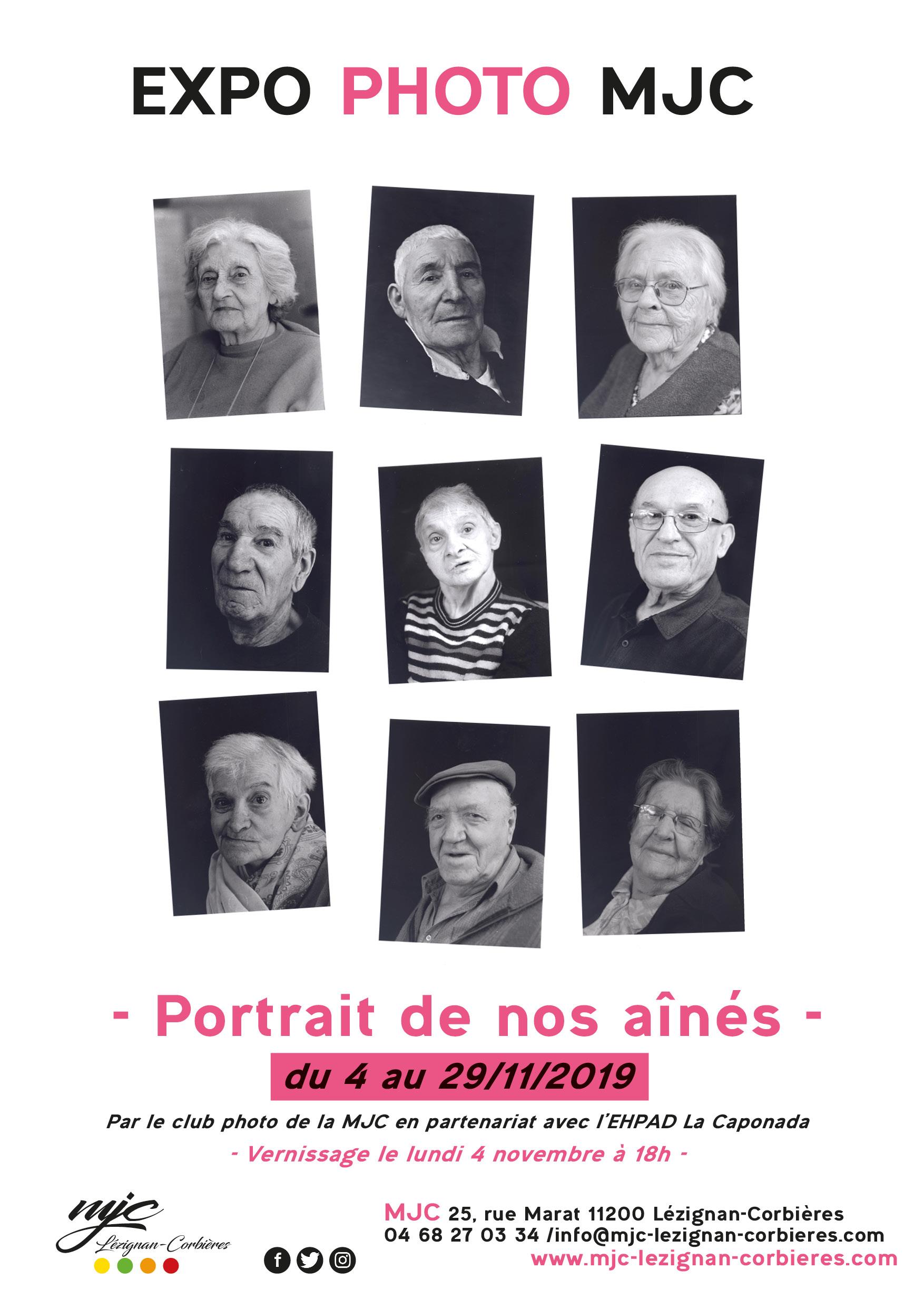 """EXPO PHOTOS """"Portrait de nos aînés"""" >> du 4 au 29 novembre"""