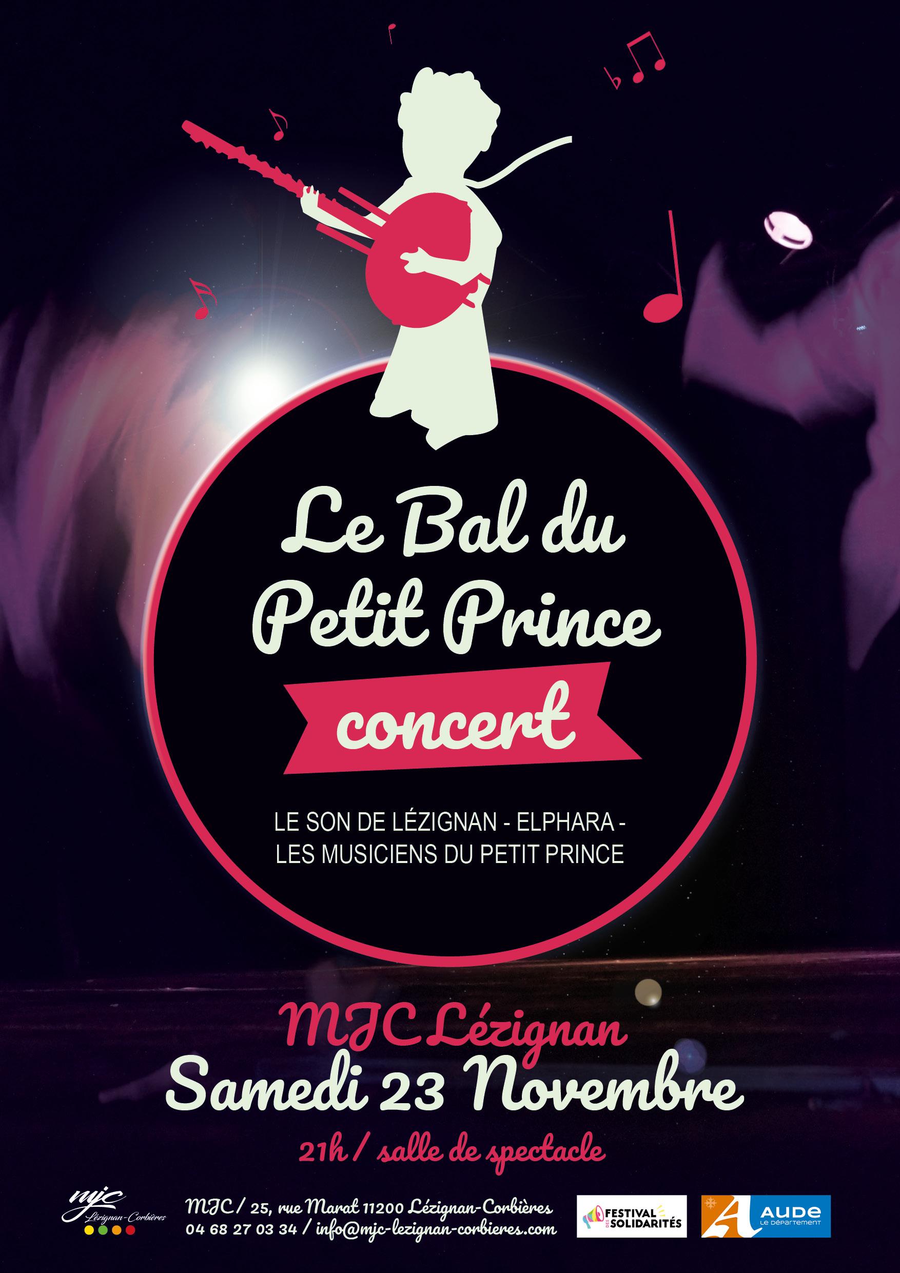 """Samedi 23 novembre >> Spectacle de rue """"Autour du Petit Prince"""""""