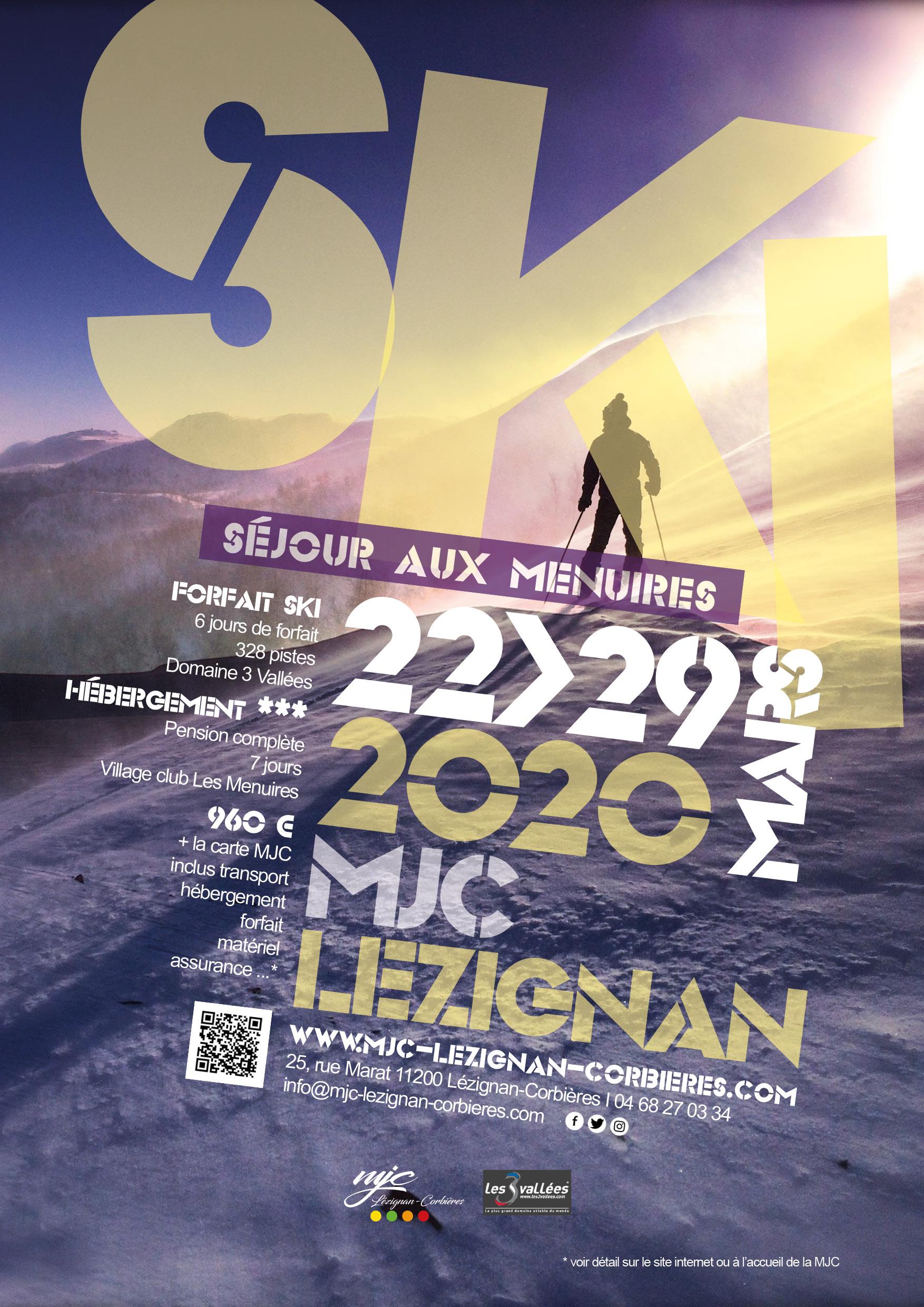 Séjour ski aux Menuires >> du 22 au 29 Mars 2020