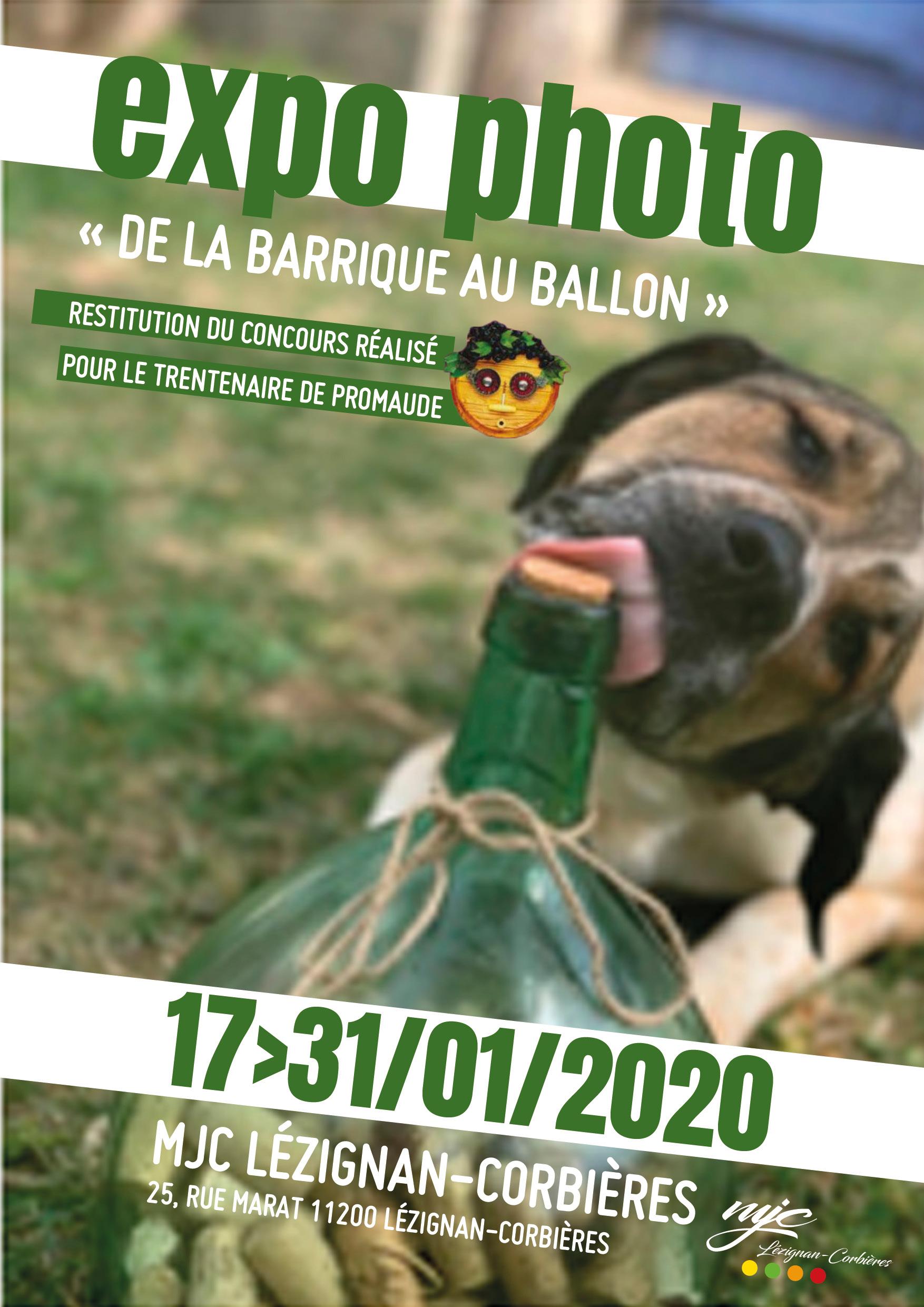 """EXPO PHOTOS """"De la barrique au ballon"""" >> du 17 au 31 janvier"""