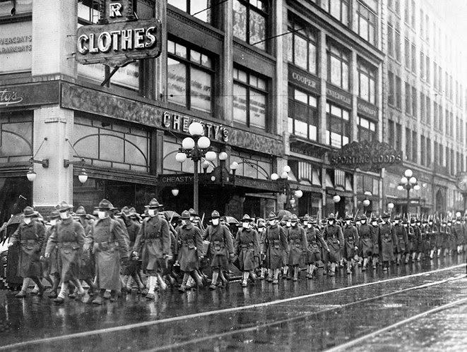 7.Seattle :Défilé du 39e régiment en route pour la France.