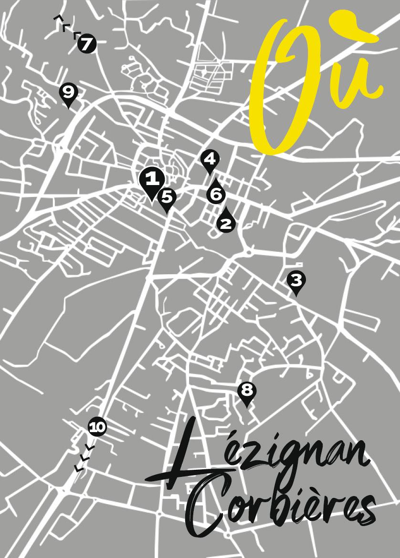 Différents sites à Lézignan-Corbières