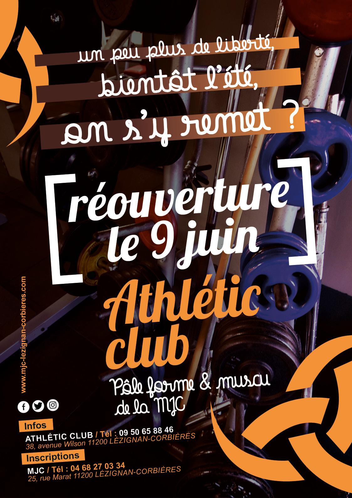 Athletic Club, infos & planning de l'été