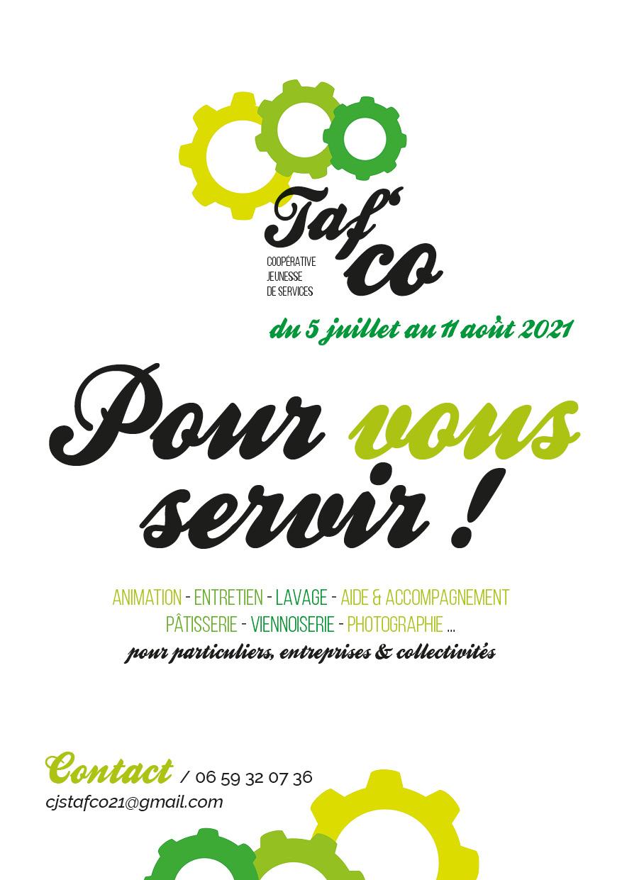 Taf'Co, la Coopérative Jeunesse de Services 2021, c'est maintenant