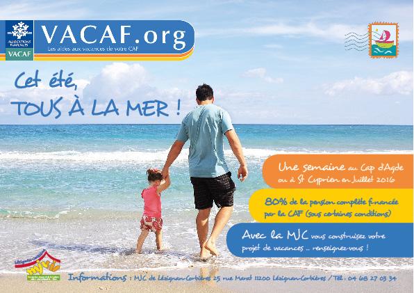Vacances Famille Tous A La Mer Partez Avec La Caf Et La Mjc