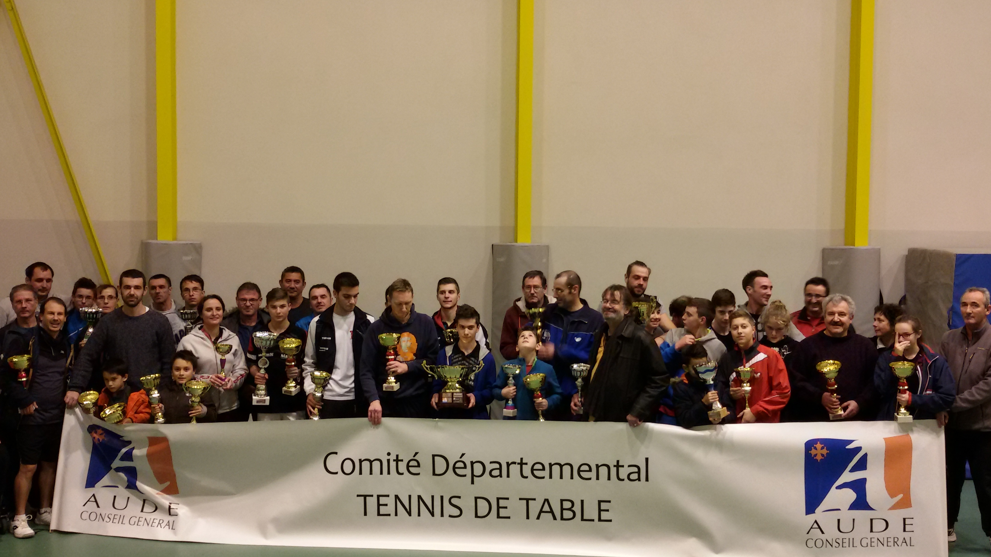 TENNIS DE TABLE >> RÉSULTATS DE LA COUPE DE L'AUDE