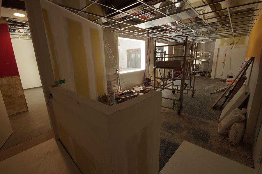 Travaux : bureaux en cours de rénovation