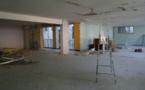 Le premier étage en travaux