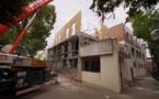 TRAVAUX >> ça y est ! le nouvel étage s'élève ...