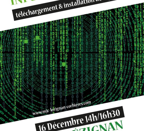 SAMEDI 16 DECEMBRE 2017 >> STAGE INFORMATIQUE : TELECHARGEMENT & INSTALLATION DE LOGICIELS
