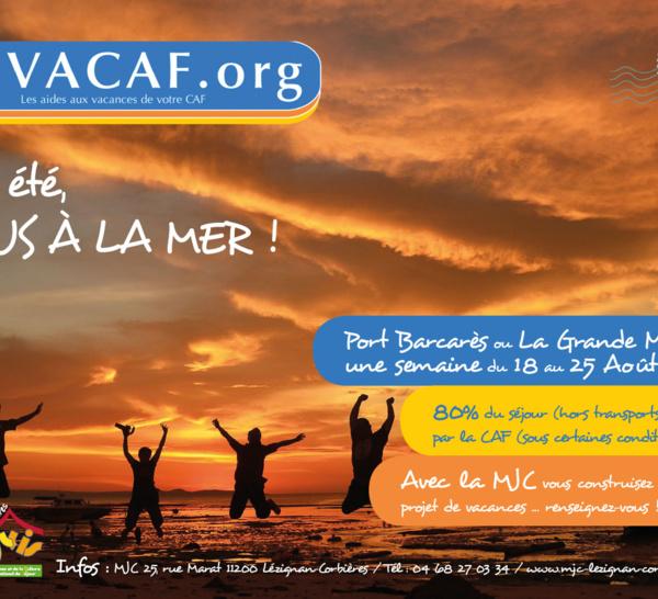 Du 18 au 25 Août 2018 >> Séjour Famille à la mer en partenariat avec la CAF