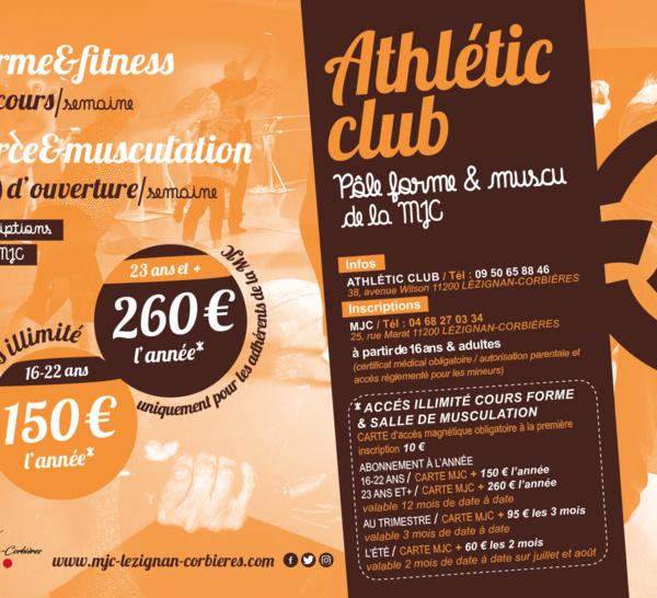 PÔLE FORME & MUSCU de la MJC à l'Athlétic Club (NOUVEAU)