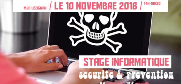 Samedi 10 Novembre >> INFORMATIQUE : sécurité & prévention