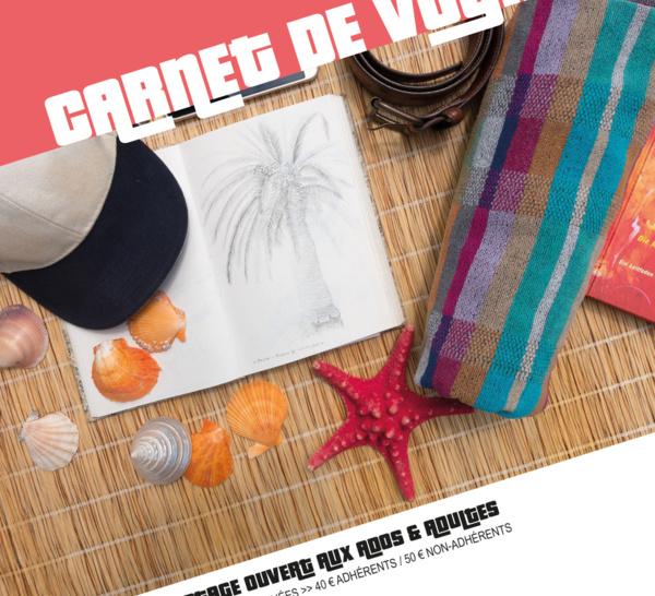 MARDI 30, MERCREDI 31 JUILLET & JEUDI 1er AOUT >> stage dessin/peinture CARNET DE VOYAGE
