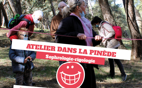 Atelier sophrologie-rigologie dans la Pinède, le samedi 10/07